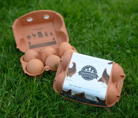 Two boxes of Havensfield very large eggs