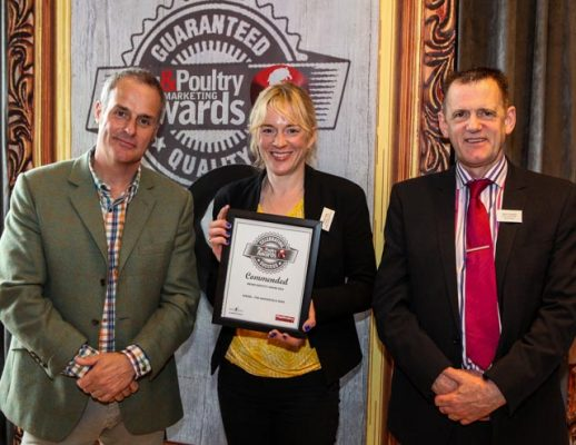 Receiving our award from TV chef Phil Vickery